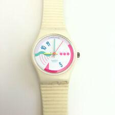 Vintage SWATCH 1989 Ladies Swiss Analog Watch Cream Colored