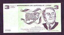 AUSTRALIA political Funny money $3 UTAH   (MAX)