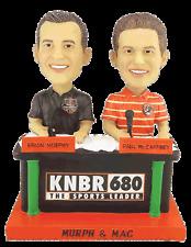 BOBBLE SF GIANTS KNBR MURPH & MAC DUAL BOBBLEHEADS SGA 2015 RADIO TALK HOST 680