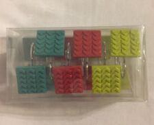 Mainstays Chevron Multi Color Decorative Bath Collection - 12 Piece Shower Hooks