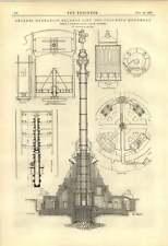 1888 Columbus Monument Archer hydraulique Balance Lift