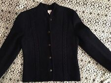 Vintage Brooks Brothers Women's Sweater/ Jacket Size 6, 100% Wool, Navy Blue