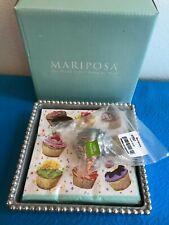 New Mariposa Beaded Box with Cupcake Weight 2789-C Napkin Holder