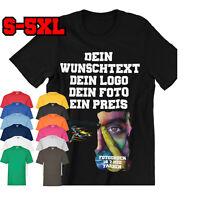 T-Shirt Druck Wunschtext Logo Foto  T-Shirt mit Foto Expressversand S-5XL