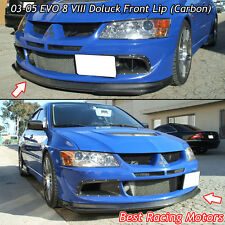 Do-Luck Style Front Bumper Lip (Carbon) Fits 03-05 Mitsubishi EVO 8