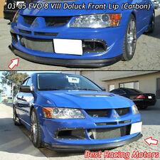 03-05 Mitsubishi EVO 8 Do-Luck Style Front Bumper Lip (Carbon)