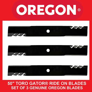"""50"""" TORO GATOR® RIDE ON BLADES - HEAVY DUTY GENUINE OREGON BLADES"""