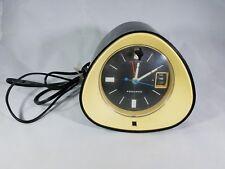 "Vintage 1969 Panasonic ""The Spencer"" RC-1091 Mod Black and White AM Clock Radio"