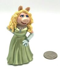 "Muppets Movie MISS PIGGY Green Dress Cake Topper PVC Figure Disney 3 3/4"" Tall"