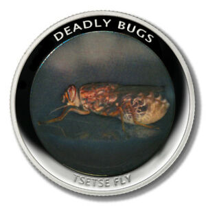Zambia Deadly Insects Tsetse Fly 1000 Kwacha 2010  Proof Colored Coin