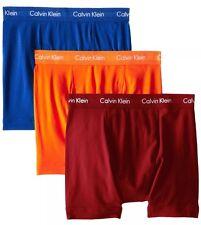 NWT Calvin Klein. Sz M. Men' 3 Pack. Boxer, Multi-Color  Solid, MSRP $42.50.