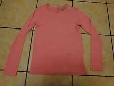 BNWT GIRLS 'NEXT' LONG SLEEVED TOP WITH STRETCH 15 YEARS PINK MARL