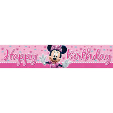 MINNIE MOUSE BOWTIQUE Party Banner 1.5m x .3m Birthday Kids Decoration