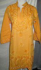 Elegance chikan full embroidery long   chiffon  kurta/top size 46