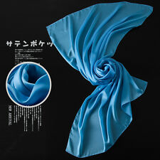 Frauen-dame Echt 100% Seide Feststoff Lang Schal Tücher Schal scarfves Kopftuch