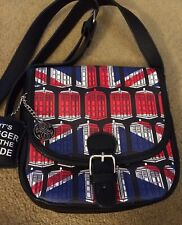 BBC Doctor Who TARDIS Union Jack Messenger Saddle Handbag Purse Cross-Body Bag