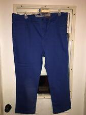 NYDJ Womens Blue Pants Size 22W Plus Ankle