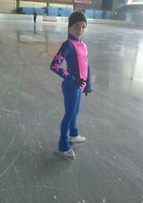 Eiskunstlaufen Jacke+ Hose, Trainingsset, Sport, Warm Gr.134-140 , blau -pink
