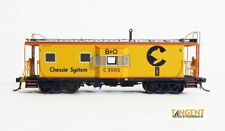 "Tangent (HO) CHESSIE/B&O I-18 Bay Window Caboose #C-3004 NIB RTR ""LIGHTED"""