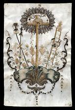 santino pergamena manufatto 1700 ARMA CHRISTI