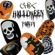 Halloween CHIX NAILS Fancy Dress Party Full Sheet 22 Vinyl Nail Wraps Foils