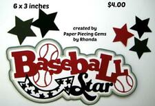 Baseball Star Title sports everyday scrapbook premade paper piecing by Rhonda