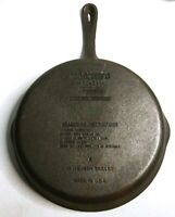 "Wagner Ware 1891 Original Cast Iron 10.5"" Frying Pan Skillet - Made in USA"