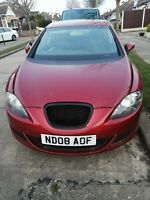 Seat Leon 1.9 Tdi MK2 (1p1) 2008 Red Air Con. only 79,000 miles