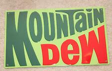 Vintage Style Embossed Mountain Dew Metal Signs Soda bottle 1970 Logo