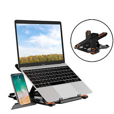 Portable Laptop Stand Adjustable Computer Stand with Phone Holder for Notebook