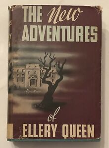 1941 NEW ADVENTURES OF ELLERY QUEEN HC DJ TRIANGLE ED 5 TALES 4 SPORTS MYSTERIES
