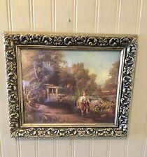vintage ornate gold frame