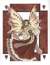 HEART FAERIE Queen of Hearts Fairy Art Print Amy Brown 8.5X11 faery