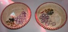 Clementi Italia Bowls Set of 2 Grapes-Leaves-Ribbed Edge