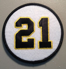 ROBERTO CLEMENTE PITTSBURGH PIRATES RETIRED JERSEY NUMBER 21 PATCH