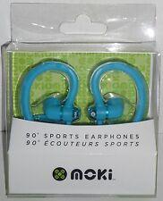 Moki 90° SPORTS EARPHONES  Blue  NEW mp3 music player ear Head Phones headphones