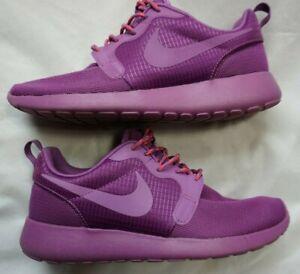 Women's Purple NIKE ROSHE ONE Athletic Sneakers Shoes 642233-500 Sz 8