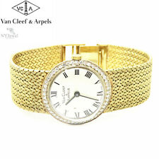 NYJEWEL Van Cleef & Arpels VCA 14k Solid Yellow Gold Diamond Ladies Womens Watch
