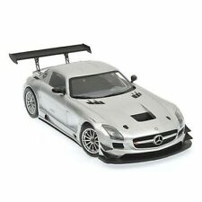 Minichamps MERCEDES SLS AMG GT3 SILVER 1:18 (NEW STOCK)-Rare in USA!*Brand New!