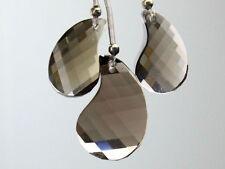 Natural Smoky Quartz Faceted Fancy Pear Drop Gemstone Beads Set