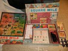 1962 Square Mile Land Development board Game Milton Bradley