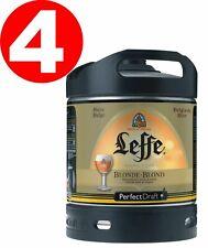 4x Leffe blonde aus Belgien  Perfect Draft 6 Liter Fass  6,6 % vol MEHRW 4,62€/L