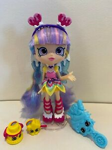 Shopkins Shoppie Doll RAINBOW KATE with 2 exclusives- Excellent condition