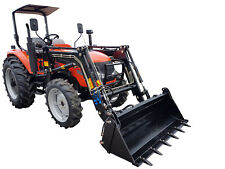 70hp Tractor 4WD with FEL and 4 in 1 Bucket. Flat Floor & 3 Years Warranty