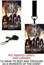 Kiss End Of The Road Tour PVC Card And  Lanyard