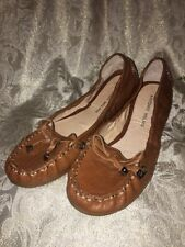 Antonio Melani Women's Brown Leather Ballet Flats Size 7M