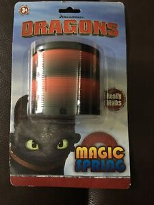 Dreamworks How To Train Your Dragon Slinky Magic Spring BNWT Toothless