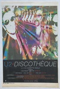 U2 original 1997 POSTER ADVERT DISCOTHEQUE POP