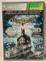 Batman Arkham Asylum: Edition Platinum Hits (Microsoft Xbox 360, 2011) - Sealed