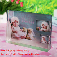 Custom Personalised Photo Frame Crystal Glass Color Printing Birthday Gift